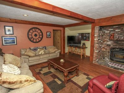 Photo for ~Camp Scarlett~Furnished Family Cabin~Hot Tub~Walk To Lake & Marina~