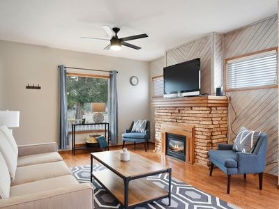 Photo for Dog-friendly, city home w/ a full kitchen, gas fireplace, & enclosed yard