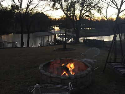 Photo for PET FRIENDLY Waterfront Lake House FISHING, SWIMMING, No Wake Cove, FIRE PIT!