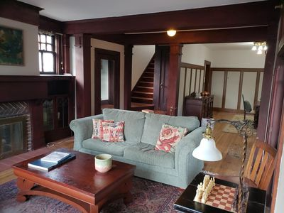 Stairs leading to 3 bedrooms upstairs