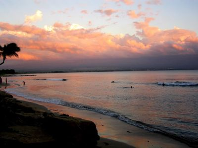 Photo for Beautiful fully AC 2 BR/2BA condo 20 ft from the waves on Maui's longest beach