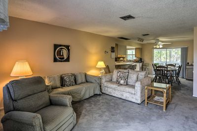 Up to 7 guests will feel right at home in the 2-bedroom, 2-bath unit.