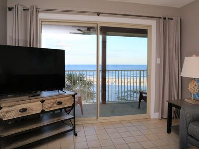Photo for JUST REMODELED Southern Sands 306 Gulf Front directly on the beach ~ Prime Spot/Walk to Town!
