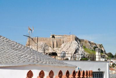 View of the Acropolis from the private terrace