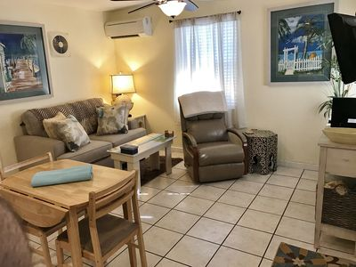 Living/dining area-New immaculate, bright, beautiful! Lazy Boy Leather recliner