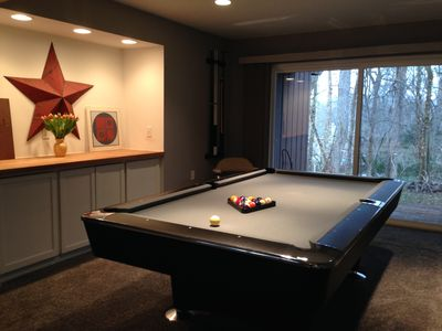 Pool Table Off Family Room