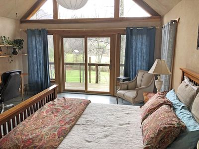Upstairs bedroom with private balcony