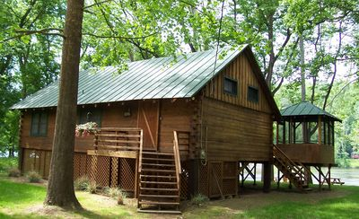 Photo for Shenandoah Shores Riverfront Log Cabin