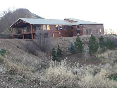 Photo for One of a kind Mountain Lodge, 10,00 sq ft, sleeps 51 and perfect location