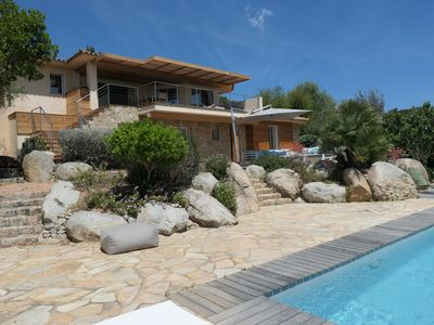 Photo for VECCHIO PORT, HEATED SWIMMING POOL, SEA VIEW, BEACH OF BLUE SHED,