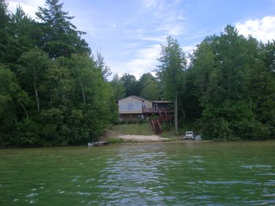 THIS IS A VERY PRIVATE SETTING/includes fishing boat, canoe and peddle boat.