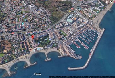 Location of our beach front apartments, just   minutes walk from Puerto Banus.