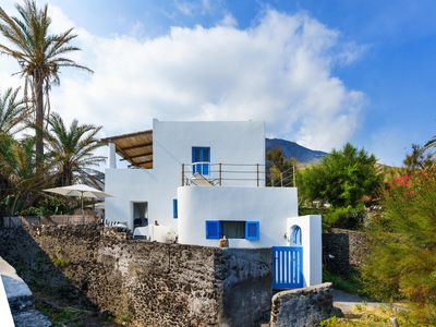 Photo for NEW LISTING Exclusive Stromboli's charm, a few steps from the sea