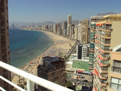 Photo for CARABELAS Penthouse apartment  in Benidorm with spectacular beach views.