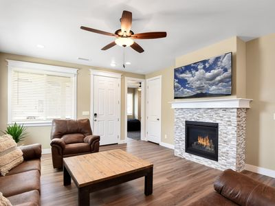 Photo for New Listing!  Brand New Luxury Home, Hot Tub, Fire-Pit, Perfect Location! Loaded with Amenities.