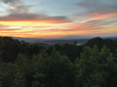 View from the deck - amazing color scheme during a sun set