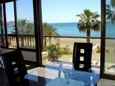 Photo for Exceptional view on Málaga's most exclusive beach, 5 min away from Marina&Center