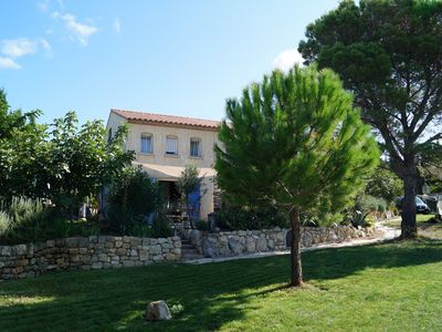 Photo for New Mediterranean holiday house with large garden, 8 km to the sea.
