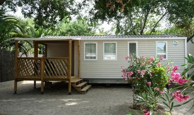 Photo for Camping Les Lacs du Verdon **** - Cozy Air-conditioned 3-room mobile home 4/6 people