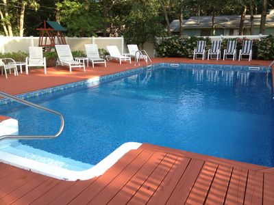 Take a few refreshing laps in the salt water pool or just relax and recharge.