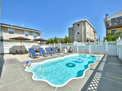 Photo for HEATED Inground Pool, 3rd from the Beach with Amazing Beach Views, New & Modern