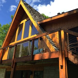 Photo for Beautiful  newly remodeled Private Cabin on Spectacular Red Cedar Lake