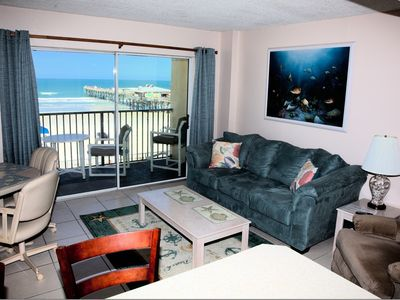 Photo for Direct Oceanfront 1/1, Condo In Sunglow Resort, DISCOUNTS for 7 or more Nights