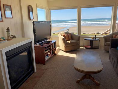 Rain or shine, you can watch the beach and ocean from the comfort of the house