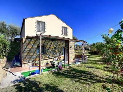 Photo for The Olive Lodge is a beautiful villa with private pool just 1km from Civezza
