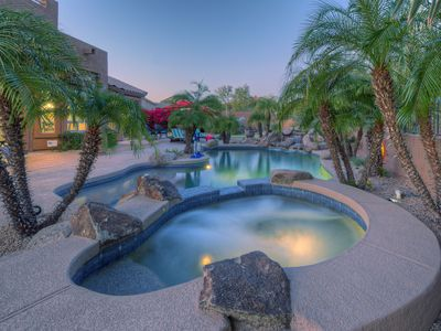 Photo for SERENE & LUXURIOUS; 4 BR, 3 BA; Pool, Spa, Putting Green; Fire Pit; Golfer's PARADISE