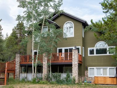 Photo for Brooks Hill Lodge Home: Lots Of Space, Hot Tub!