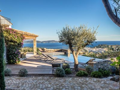 Photo for VILLA SOLEIL D'OR GULF OF ST TROPEZ WITH PANORAMIC VIEW