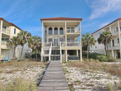 "Photo for Ready now - No storm issues! Relax in the Hot Tub at this Sunset Beach beauty, Beachfront, Pet Friendly, 5BR/5BA ""1st To The Beach"""