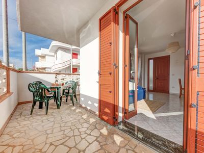Photo for Nice apartment with sea view terrace, 10 mins walk from sea