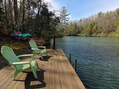 Photo for Beautiful mountain home on a private, secluded lake!  Can sleep up to 10 people.