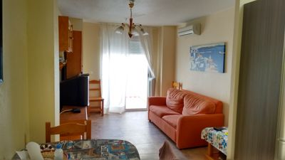 Photo for Central apartment, 300m from the beach, a / c, wifi
