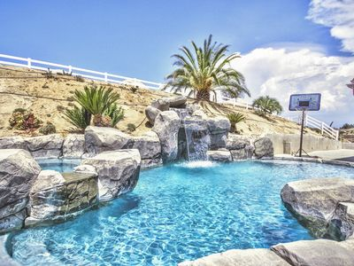 Photo for 7200 sq Mediterranean Estate - SOLAR HEATED POOL- May-Oct, plus optional Casita