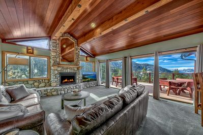 Welcome to the living room with spectacular views!