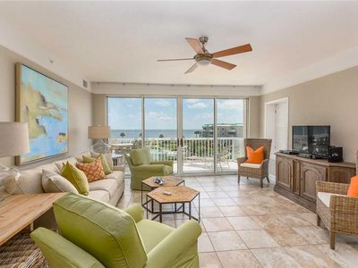 Photo for Oceanfront Condo with Balcony, Swimming Pool and Boardwalk to Beach