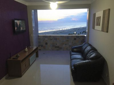 Photo for Apartment in front of the beach with beautiful views, modern, wifi, netflix