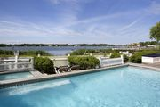 Waterfront Bliss 4 Bed/5 Bath with Heated Pool and Dock Stroll to Sag Harbor