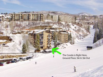 Photo for TRUE SKI IN/ OUT - Ski right to and from your door - Walk to Everything + Private Shuttle Service in Ski Season