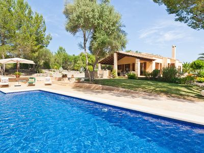 Photo for Finca on a hill by Sineu with large pool, patios and wonderful view