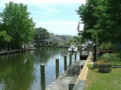 View of the canal that leads into Roy Creek,  which leads into Assawoman Bay.