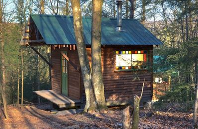 The Cabin's Bath House: Sauna, Shower and Toilet