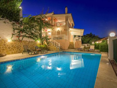 Photo for 3 bedroom Villa, sleeps 6 in Lithakia with Pool, Air Con and WiFi