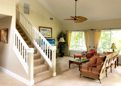 Living Room and Stairway to the Loft