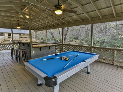 Ellijay Holiday Cabin Two River Houses Hot Tub Pool Table - Outdoor pool table rental