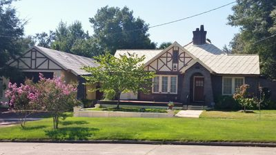 The 1928 Tudor style brick home in historic East Hill