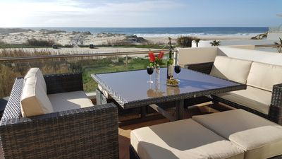 Terrace off the lounge. A wonderful place to relax & watch the waves roll in!